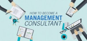 how to become a management consultant graphic