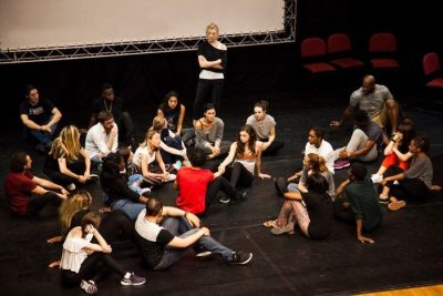 Group of drama students