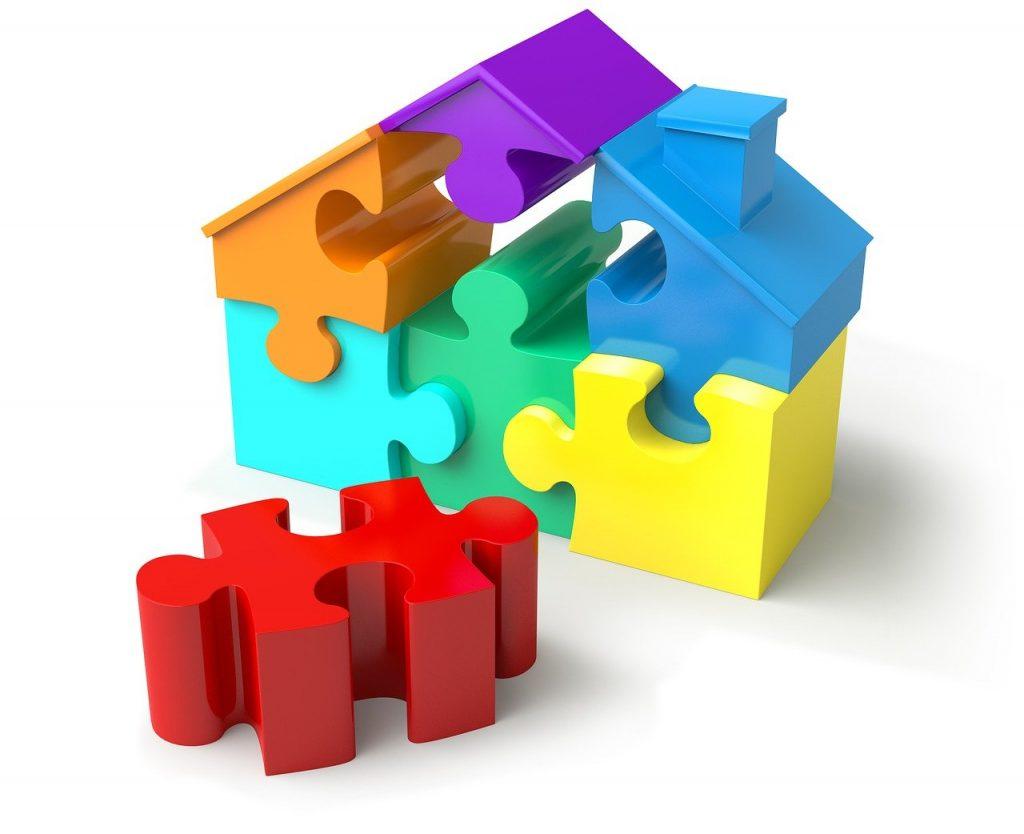 Should You Love Your Job: puzzle pieces, house shape, real estate