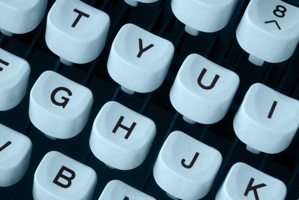 Should You Love Your Job: typewriter, keyboard, machine, journalist