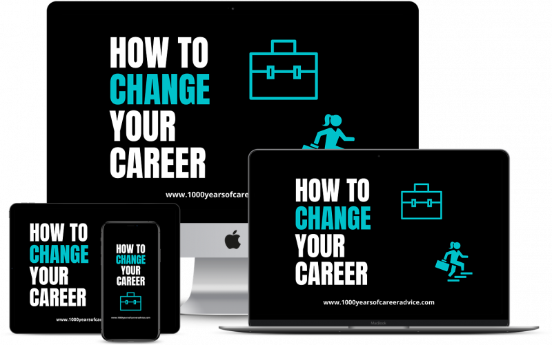 How To Change Your Career Online Course 3D MockUp